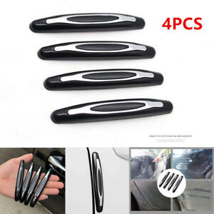 4pcs Car SUV Body Door Side Black Anti-Collision Protector Strips Decorative Bar