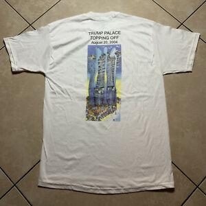 Rare Vintage 2004 Trump Grande Palace Topping Off T Shirt Large VTG Coscan MAGA