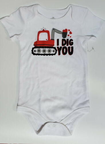 """Baby Boy Body Suit """"I Dig You"""" 3-6  Months Baby Stocking Stuffer Gift"""