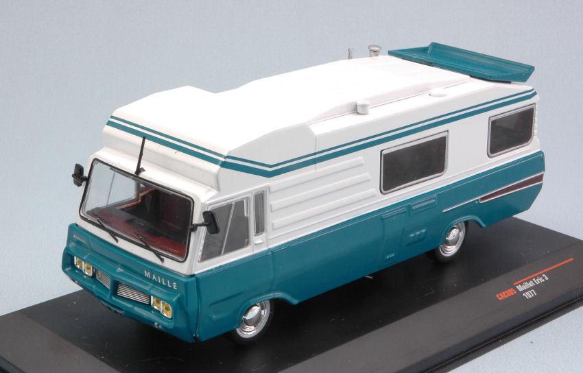 Maillet Eric 3 1977 bianca / blu Camper Van 1:43 Model CAC005 IXO MODEL