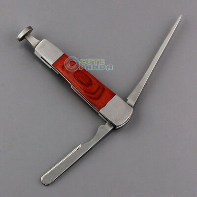 3in1 Red Wood Tobacco Smoking Stainless Steel Pipe Cleaning Tool