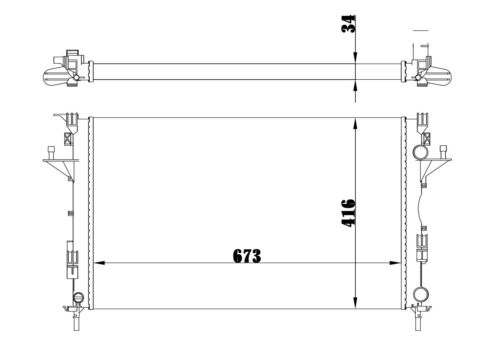 Motorkühlung RENAULT ESPACE III Kühler 2.2 dCi JE0/_