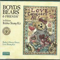Boyds Bears & Friends baileys Heart Desire Love Rubber Stamp Kit