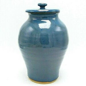 "Large Adult Funeral Cremation Urn 200 Cu In Human Ash Blues 11"" Ceramic Pottery Everything Else Cremation Urns"