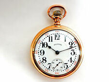 Mega Rare Antique 18s Railroad  Illinois Pennsylvania Special Gold Pocket Watch