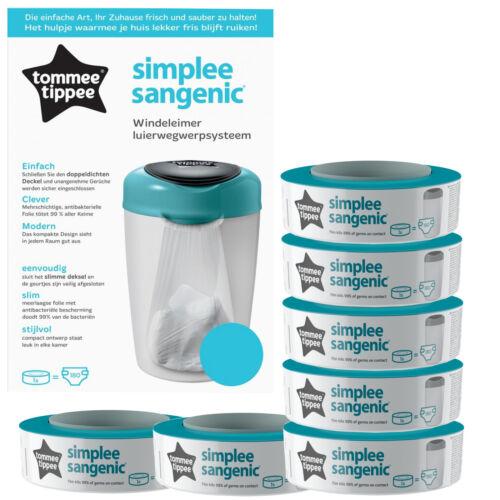Simplee Sangenic Windeleimer blau inkl 7 Nachfüllkassetten