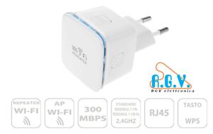 Ripetitore-segnale-wifi-802-11n-wireless-2-4-GHz-300Mbps-doppia-antenna-N300
