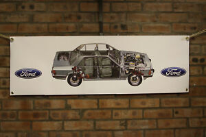 Ford RS200 RS 200 large pvc HEAVY DUTY WORK SHOP BANNER garage  SHOW