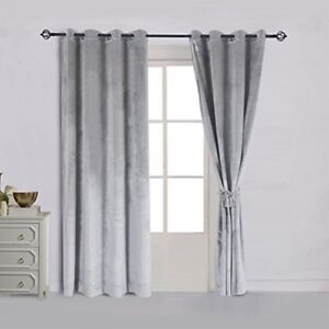Details About Curtain D Blackout Gray Grey Silver Home Decor Living Room Gift New