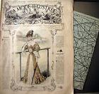 LA MODE ILLUSTREE + PATRON, n° 23/1905 Voir modèles à réaliser, FRENCH PATTERN