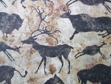 Stonehenge Primitives Cave Paintings Deer Bison Northcott Fabric Yard