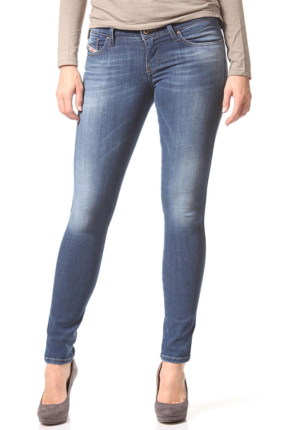 Jeans Diesel für Frauen Skinzee Niedrig 0826F Toll Slim Skinny