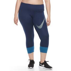 Nike-Women-039-s-Dri-FIT-Essential-Twist-Crop-Running-Tights-851638-429-Size-1X