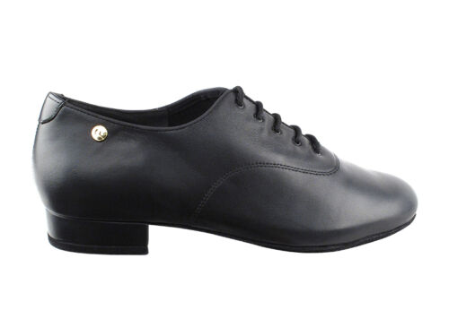 Mens Latin Salsa Very Fine Ballroom Wedding Dance Shoe CD9421DB Black Leather