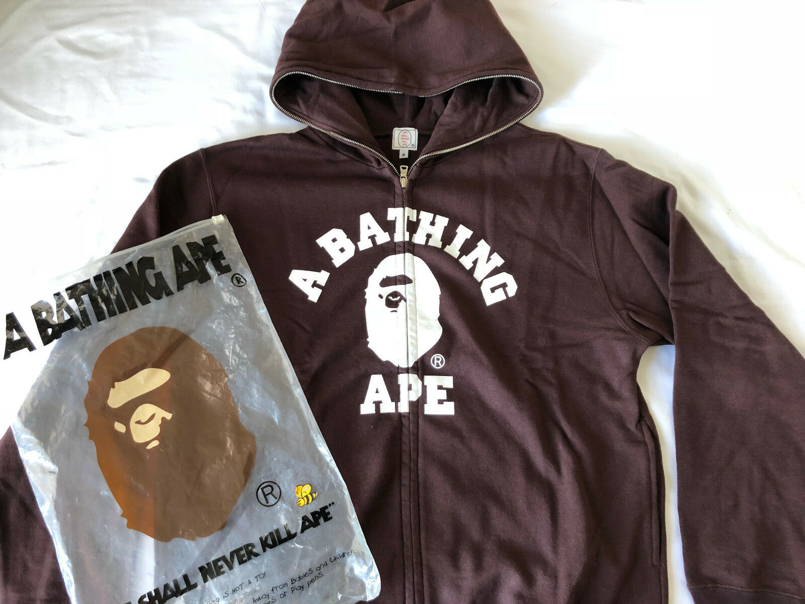 Authentic A Bathing Ape W zip Parka Hoodie
