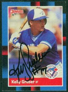 Original-Autograph-of-Kelly-Gruber-of-the-Blue-Jays-on-a-1988-Donruss-Card