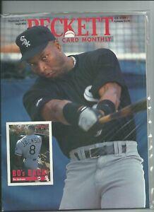 Details About Bo Jackson Beckett Baseball Card Price Guide Magazine 80 November 1991 New