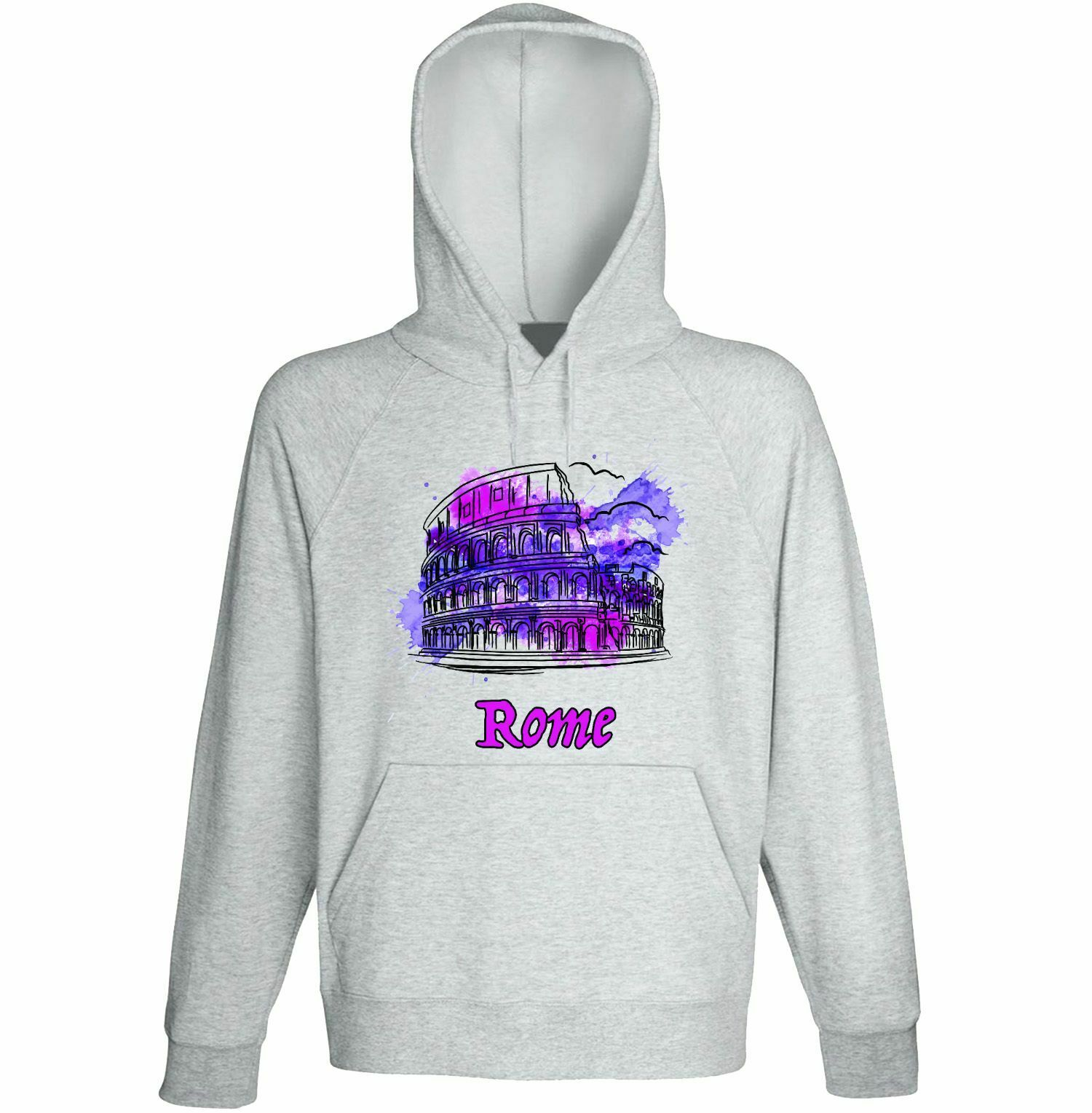 Rome Italy 1 Gift - NEW COTTON GREY HOODIE