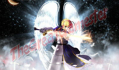 Mat #115 Game Mat Anime Girl with Black and Red Sword Custom Playmat
