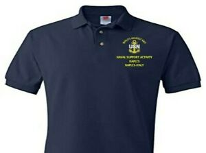 NAVAL SUPPORT ACITIVITY NAPLES * ITALY  EMBROIDERED POLO SHIRT/SWEAT/JACKET.