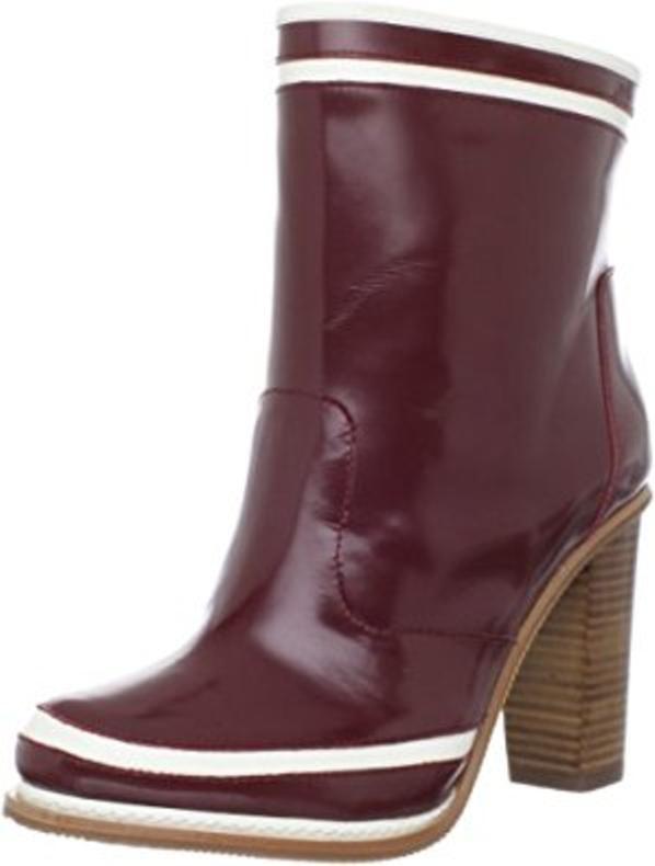 Diane von Furstenberg Spa Ankle Stivali Bordeaux Spazzolato/Talc Spazzolato6