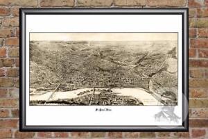 Vintage-St-Paul-MN-Map-1906-Historic-Minnesota-Art-Old-Victorian-Industrial