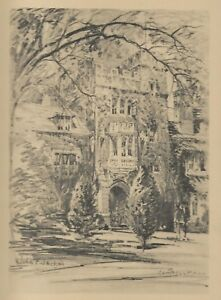 1932 PRINCETON UNIVERSITY Campus 12 Pencil Drawings PORTFOLIO by John F Jackson