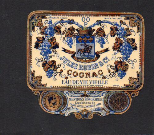 COGNAC VIEILLE LITHOGRAPHIE 19e BRANDY JULES ROBIN /& CIE EXPORT RARE  §10//09//16§