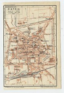 1927 ORIGINAL VINTAGE CITY MAP OF PISTOIA / TUSCANY ...