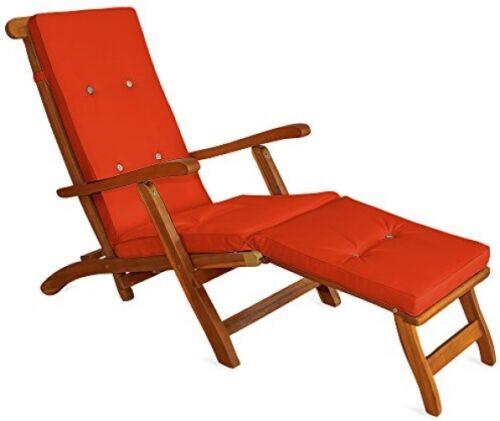 Sun Lounger Cushions Pads Waterproof Steamer Recliner Relaxer Cushions Pads