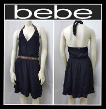 bebe EMBELLISHED HALTER DRESS PARTY COCKTAIL SZ XL COLOR BLACK MSRP $69 (NEW)