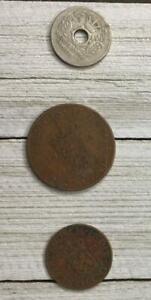 LOT-OF-3-VINTAGE-ASSORTED-NETHERLANDS-COINS