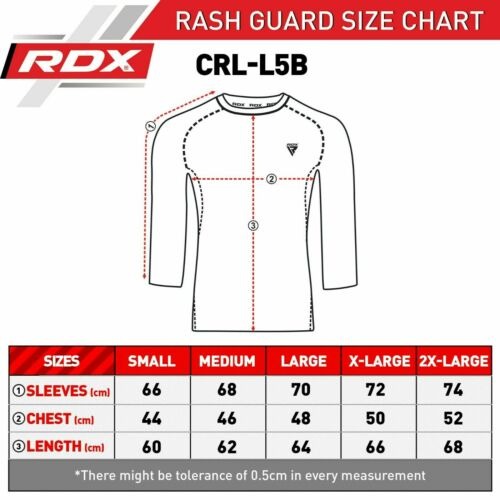 RDX Rash Guard Compression Base Layer MMA Running Boxing Shirt Long Sleeve US