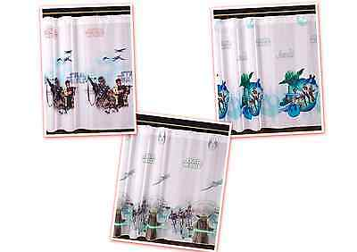 STAR WARS HEROES WINDOW DECORATIONS DISNEY VOILE READY MADE KIDS NET CURTAINS