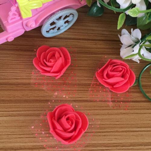 10//100 Foam Rose flower home wedding car decoration craft Wedding Flower  RG