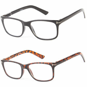 8e400d68d4 Image is loading New-Unisex-Round-Fashion-Clear-Full-Reading-Glasses-