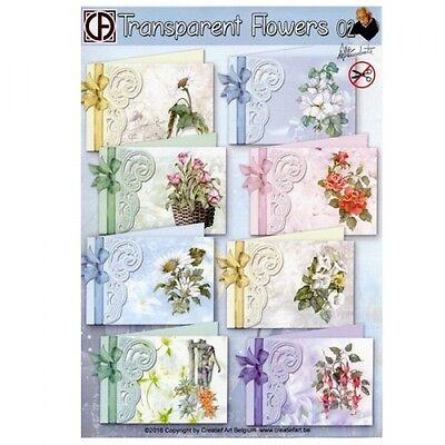 Pinflair Staf Wesnbeek Card Making Kit - Transparent Flowers Set 2