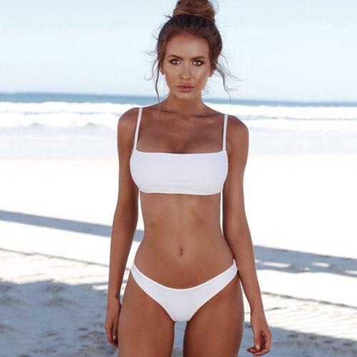 Damen Brazilian Bikini Set Push Up Bandage Badeanzug Schwimmanzug Strandkleidung