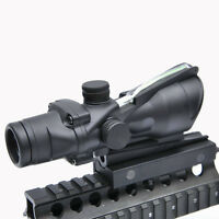 Acog Style 4x32 Optics Sight Green Illuminated Fiber Optical Scope Hunting