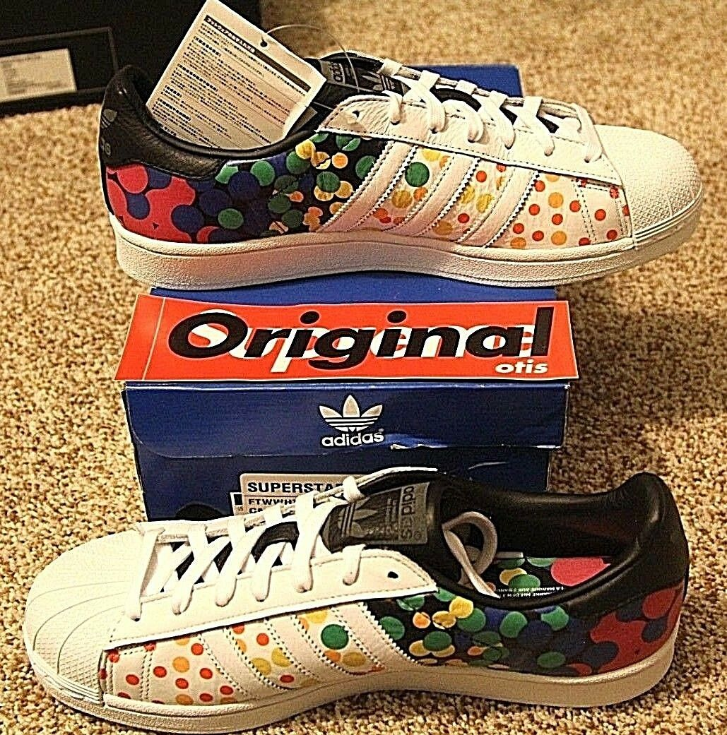 Brand New DS Adidas Superstar Pride Pack size 9.5, Multi-color White