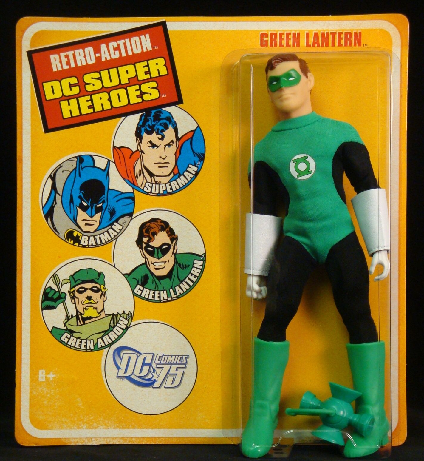 2010 DC MATTEL RETRO-ACTION DC SUPER HEROES GREEN LANTERN 8  ACTION FIGURE MOC