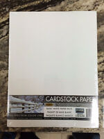 8.5x11 Basic White Paper Pack 50 Sheets Cardstock Rubber Stampin 67 Lb.