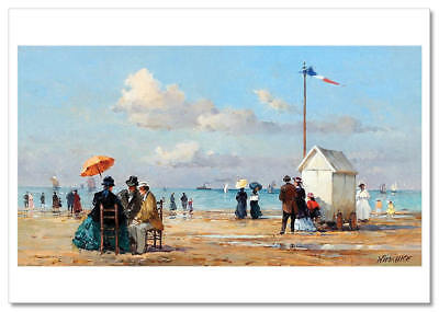 On the sea coast KIDS Woman by Detlev Nitschke Russian Modern Postcard