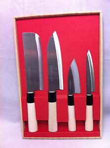 Image Is Loading Japanese Kitchen Chef 039 S Knife 4pcs Set