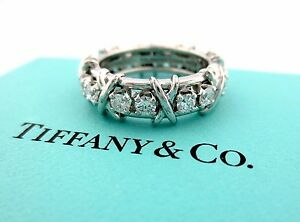 0fe5731e607c0 Details about Tiffany & Co Platinum Jean Schlumberger 16 Stone Diamond Ring  Size 4.5 1.14CT