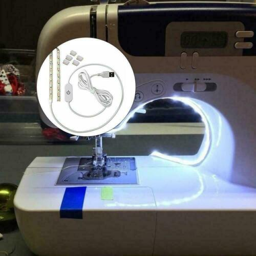 1x Sewing Machine LED Bright Light Strip With Dimmer Supply USB Power M6T4