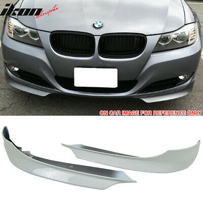 Pre-painted Front Splitter Lip Compatible With 2009-2011 BMW E90 LCI Factory Style PP Painted #300 Alpine White III Front Lip Other Color Available By IKON MOTORSPORTS 2010