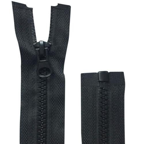 Black Chunky Teeth Zip Zipper Open End Plastic Numb 5 Heavy Duty