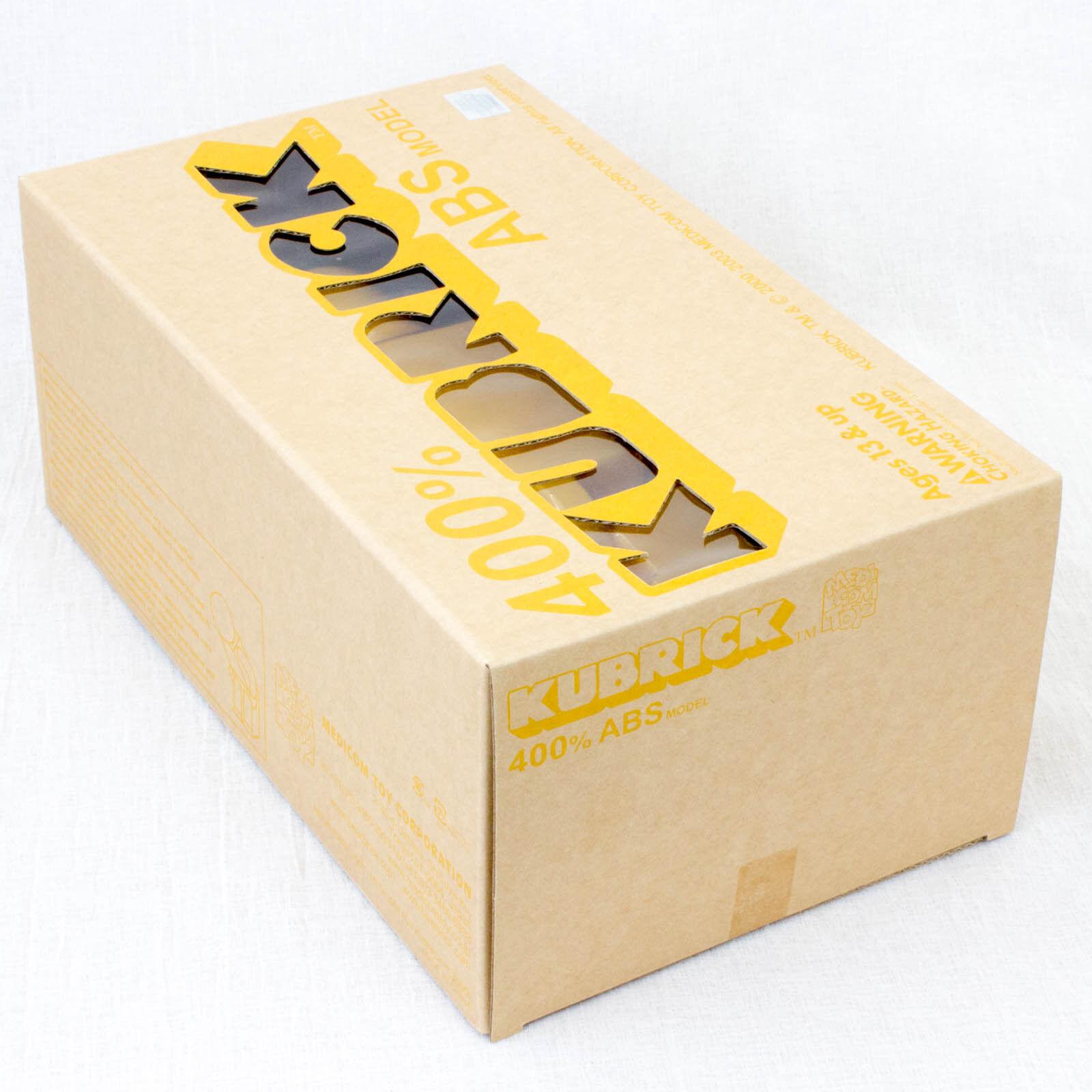 Kubrick 400% ABS ABS ABS Juguete Figura Amarillo Modelo Medicom Japón 7afecb