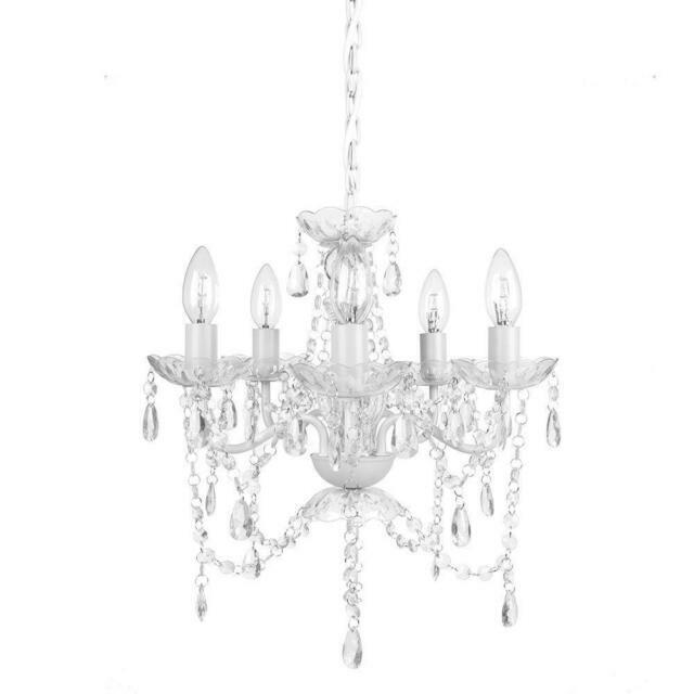 Tadpoles 5-Light White Diamond Chandelier CCH5PL010